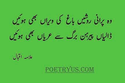 baag poetry iqbal in urdu