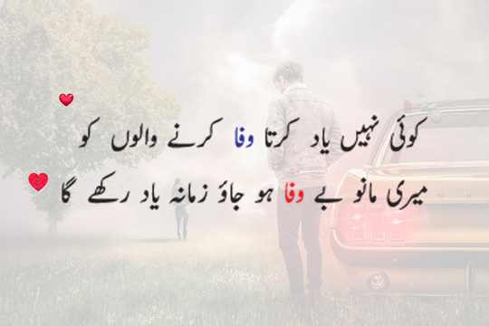 wafa dar dost poetry in urdu sms