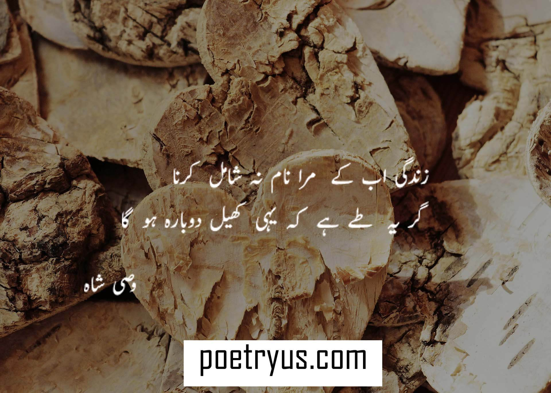 wasi shah poetry messages