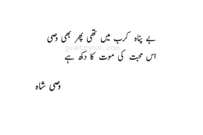 wasi shah poetry two lines