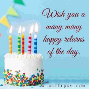 birthday wishing