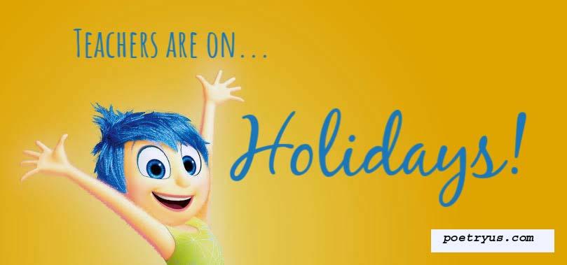 Happy Holidays teachers