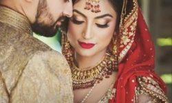 bridal poses with husband
