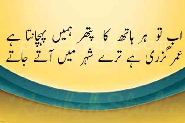 rahat indori love shayari 2 line