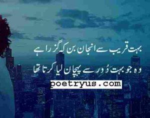 Anjan Shayari 2 lines