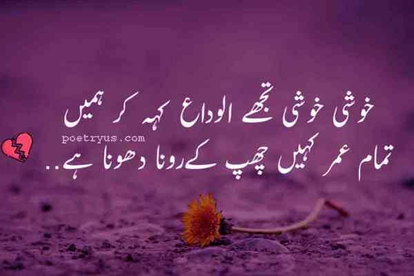 alvida poetry in urdu for lovers